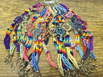 Bulk beaded dreamcatcher bracelet in assorted colors