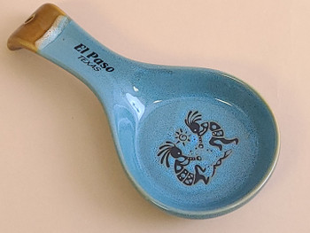 Kokopelli Drip Edge Spoon Rest -Blue