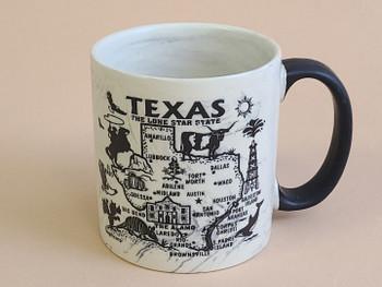 Texas Map Swirl Mug 16oz. -Black