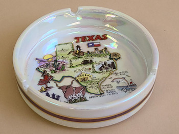 Texas Map Souvenir Ash Tray