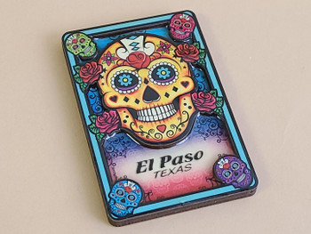El Paso Day of the Dead Magnet -Sugar Skull