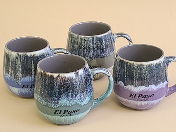 Assorted Color Texas Bowl Mugs