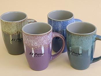 Assorted Color El Paso Texas Latte Mugs
