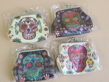 Assorted Day Of The Dead Coin Purses