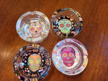 Assorted Day of the Dead Ash Trays -Sugar Skull
