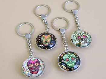 Assorted Day of the Dead Key Chains -Sugar Skull