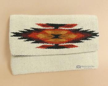 Western Wool Artisan Clutch Purse -Front