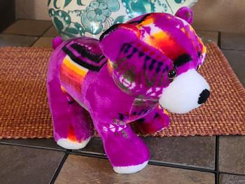 Southwest Plush Stuffed Animal -Purple Bear