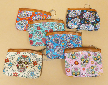Day of the Dead Zippered Coin Purse -Assorted Styles