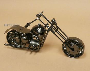 Metal Art Motorcycle -Antiqued Silver