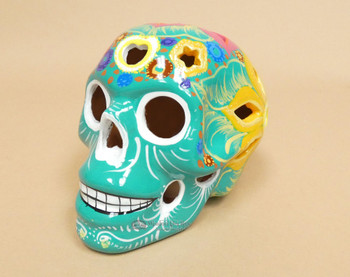 Hand Painted Day of the Dead Lantern -Sugar Skull