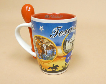 Texas Mural Coffee Cup w/ Spoon