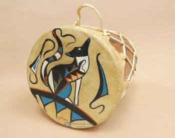 Tarahumara Indian Painted Drum