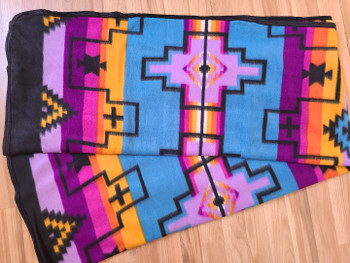 Southwest Fleece Lodge Blanket -Fiesta