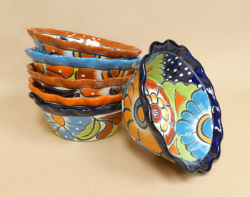 Hand Painted Mexican Talavera Flower Bowls