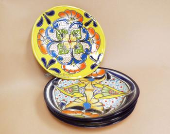 "Hand Painted Mexican Talavera Plates 11"""