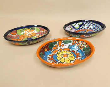 Hand Painted Mexican Talavera Oval Bowls