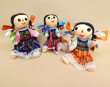 """Large Traditional Mexican Dolls 10"""""""