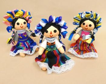"Medium Traditional Mexican Dolls 8"""