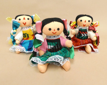 """Small Traditional Mexican Dolls 6"""""""