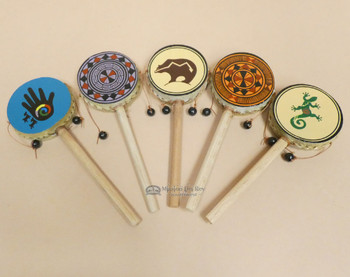 Assorted Rawhide Hand Spinner Drums