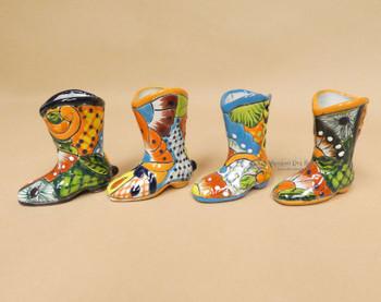 Hand Painted Talavera Boots