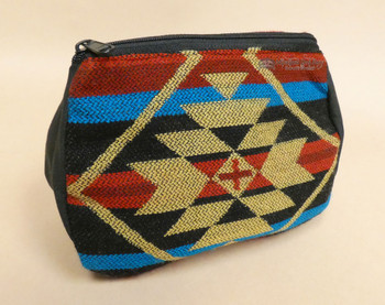 Woven Cosmetic Bag -Chevron