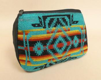 Woven Cosmetic Bag -Turquoise
