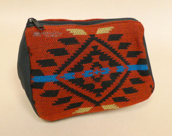 Woven Cosmetic Bag -Red