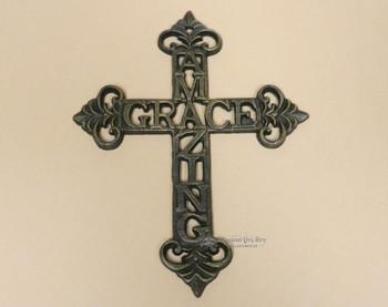 Amazing Grace Metal Art Cross
