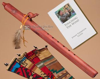 Native American Cedar Flute Wolf