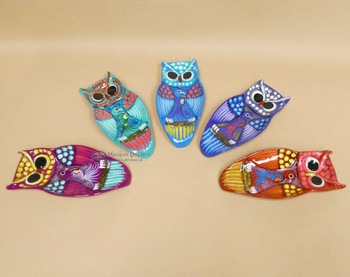 Hand Painted Owl Spoon Rests -Assorted colors