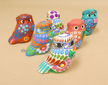 Matte finish Hand Painted Pottery Owls -Assorted