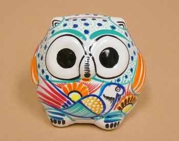 Hand Painted Ceramic Owl Bank