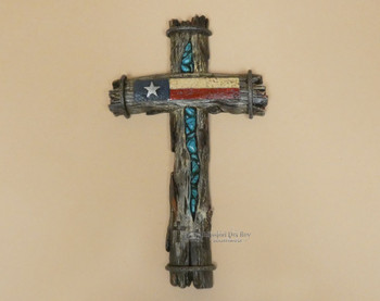 Texas Wooden Wall Cross