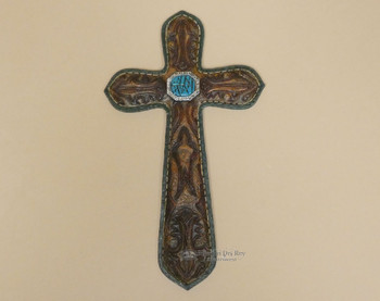 Leather & Turquoise Style Cross
