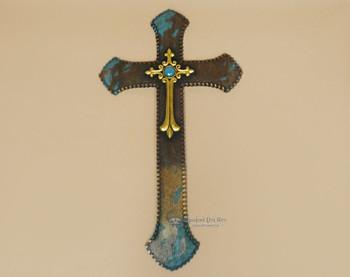 Western Cowhide Cross