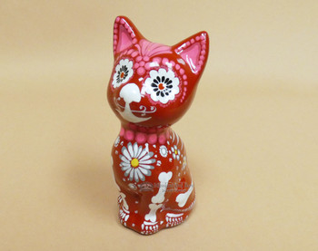 Day of the Dead Ceramic Cat
