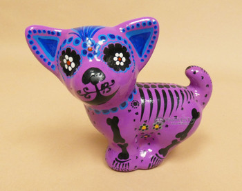 Day of the Dead Ceramic Dog