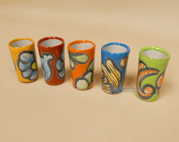 Assorted Hand Painted Mexican Talavera Shot Glasses