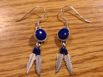 Southwest Sterling Silver Earrings -Feathers
