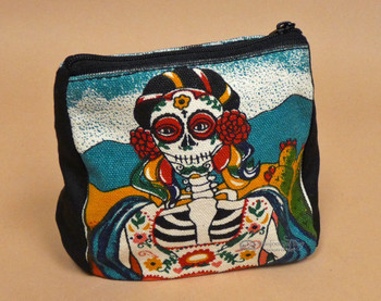Southwestern Day of the Dead Zippered Bag
