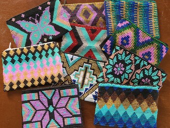 Assorted Southwestern Seed Bead Coin Purses