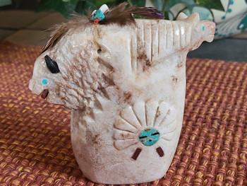 Navajo Alabaster Carving -Sun Face