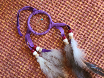 """Navajo Indian Dreamcatcher 2"""" -Purple"""