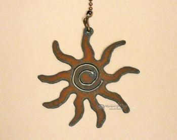 Metal Art Pull Chain - Sun