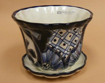 Ceramic Talavera Painted Bowl Planter