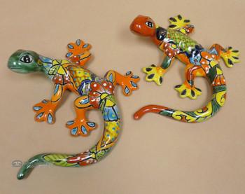 Assorted Hand Painted Talavera Lizards