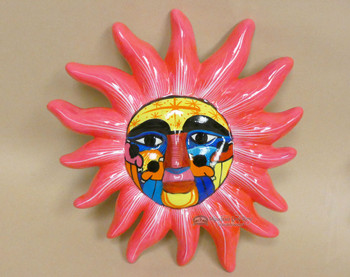 Hand Painted Ceramic Wall Sun