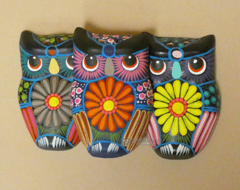 Hand Painted Wall Owls